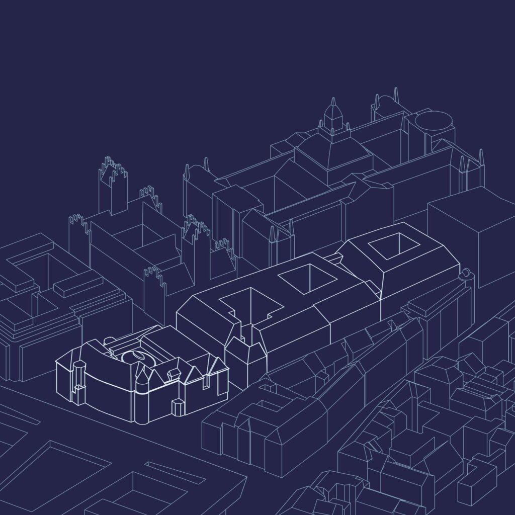 Architektonische Visualisierung des Projektes