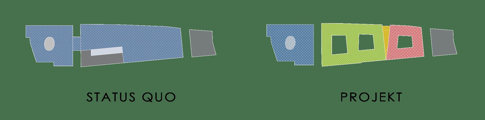 Nutzungsvielfalt der Gebäude_ Status Quo im Vergleich zum Projekt
